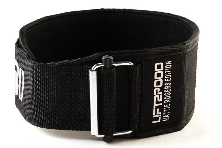 "2POOD - ""ANGEL WINGS"" by Mattie Rogers Straight Weightlifting Belt"