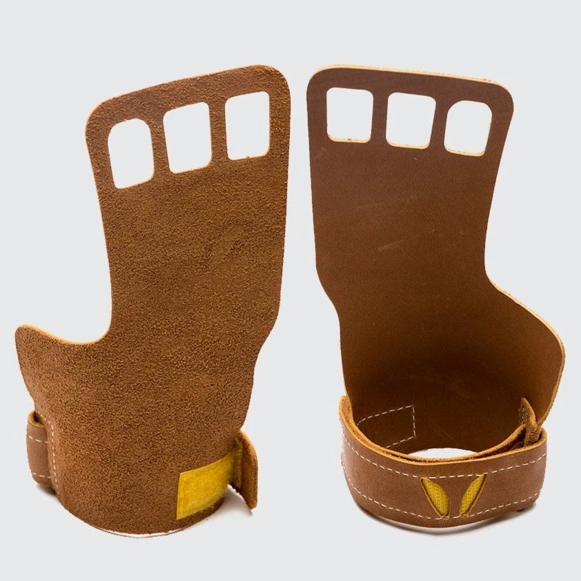 Men's 3-Finger Leather- Tan
