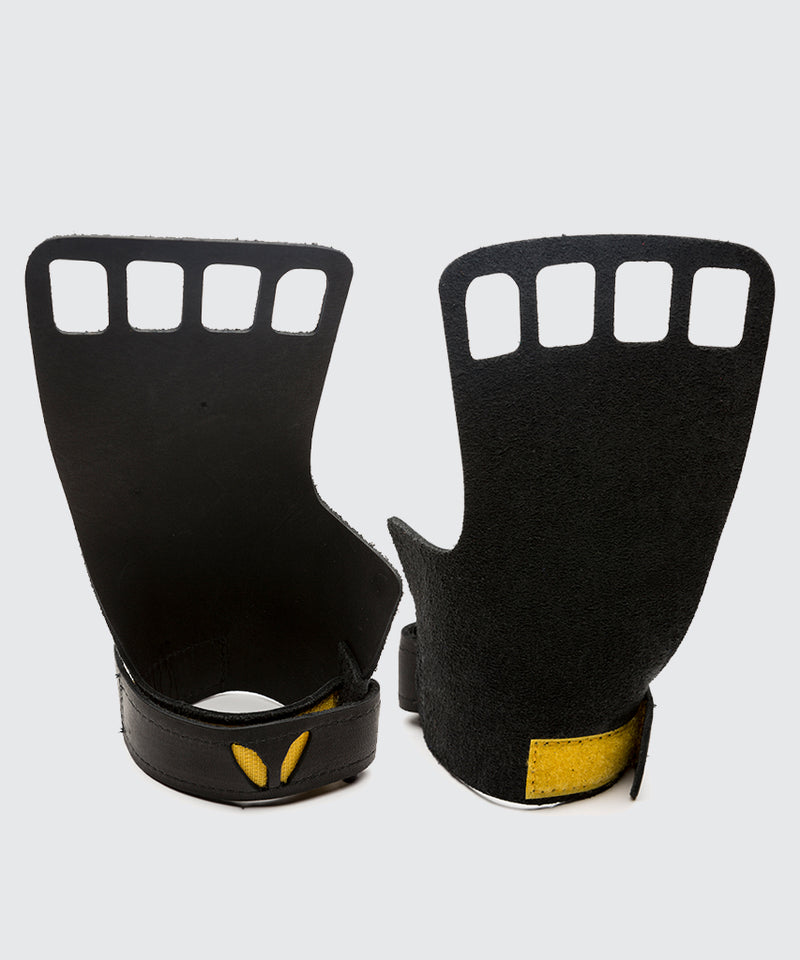 Men's 4-Finger Leather - Black
