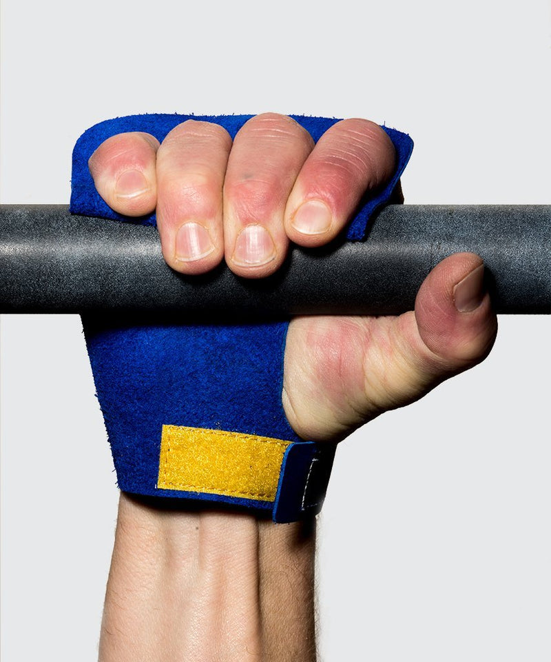 hand protection for pull up crossfit 4 finger blue victory grips