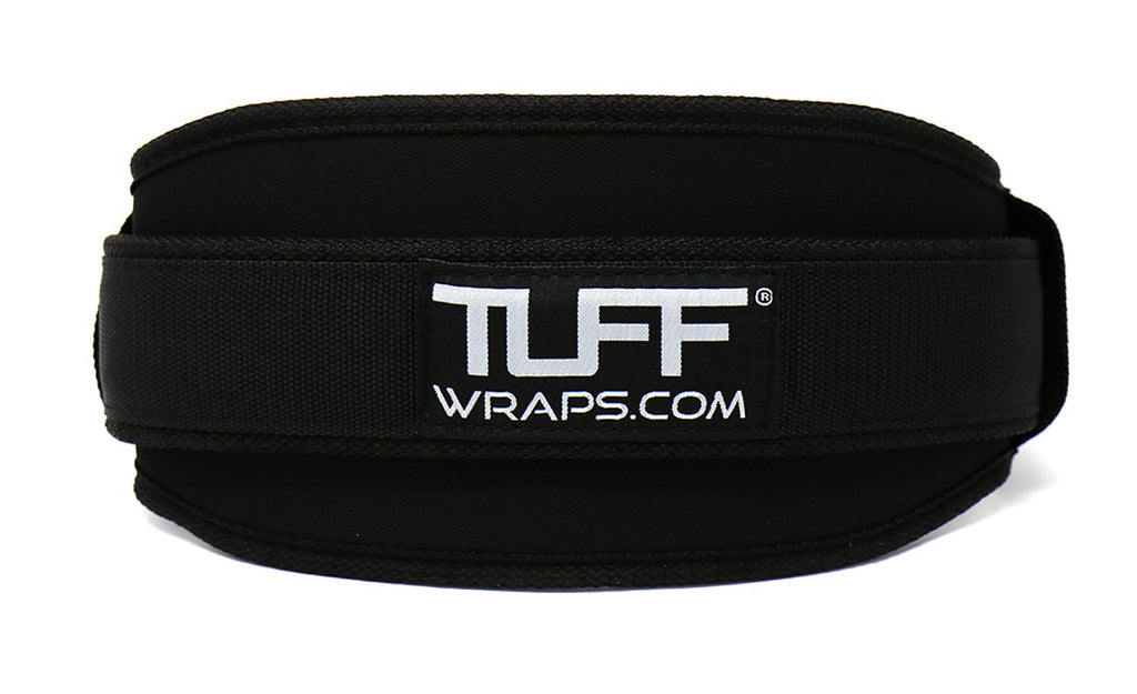 "TUFF 4.5"" Nylon Weightlifting Belt - All Black"