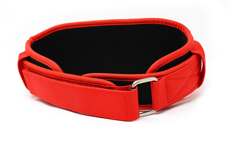 "TUFF 4.5"" Nylon Weightlifting Belt - Black/Red"