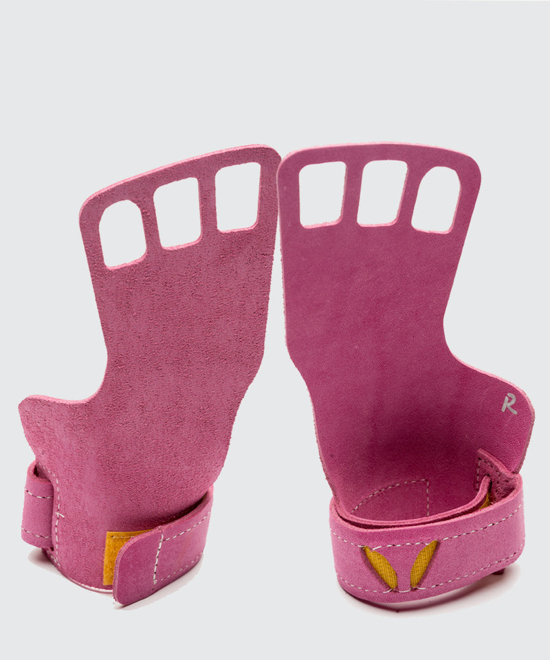 Women's 3-Finger Leather - Pink