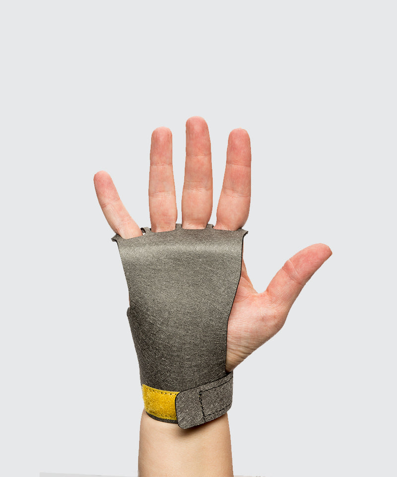 Women's 4-Finger  Stealth - Gray - Crossfit Gymnastic Hand Grips for pull ups and all crossfit activites