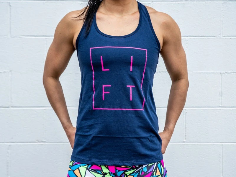 2POOD - LIFT Collection Navy Blue Racerback Tank