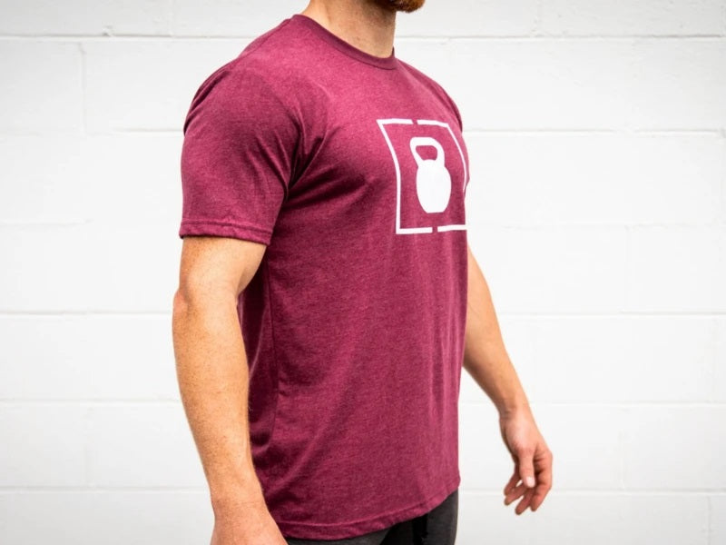 Maroon Kettlebell Patch T-Shirt