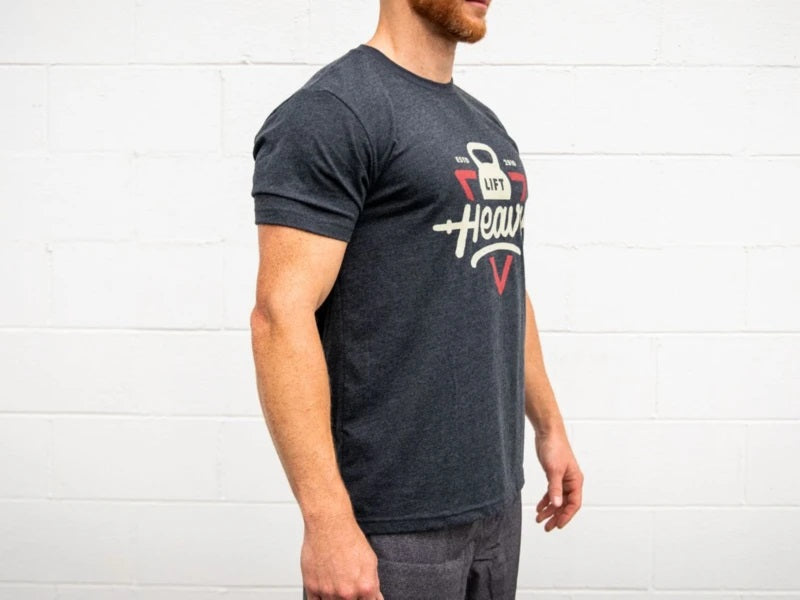 Retro Lift Heavy Dark Grey T-Shirt