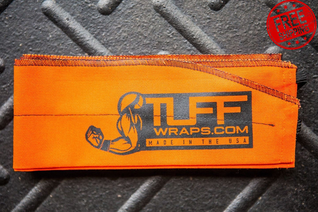 Orange Crush Fabric Wrist Wrap Support