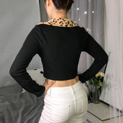 Daphne Leopard Cropped Coat