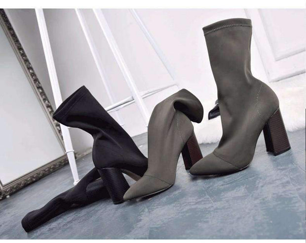 Carly Heeled Ankle Boots
