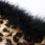 Willa Leopard Faux Fur Bustier
