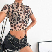 Goosebumps Leopard Crop Top