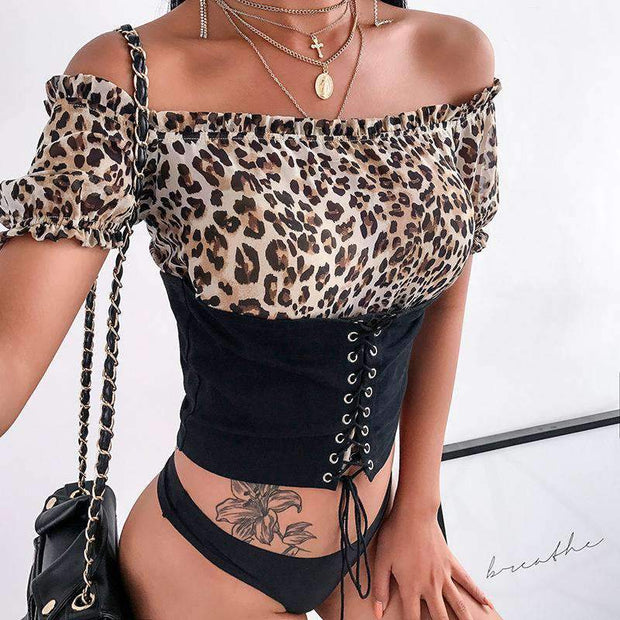Oberon Leopard Crop Top