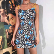 Veronica Leopard Mini Dress