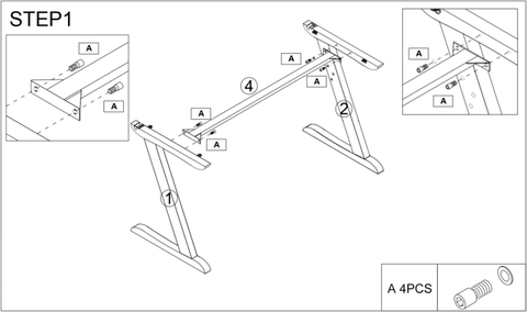 DESK ASSEMBLY INSTRUCTION