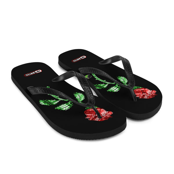 "RIP Limited ""RIP stamped ROSE"" FLIP-FLOPS"
