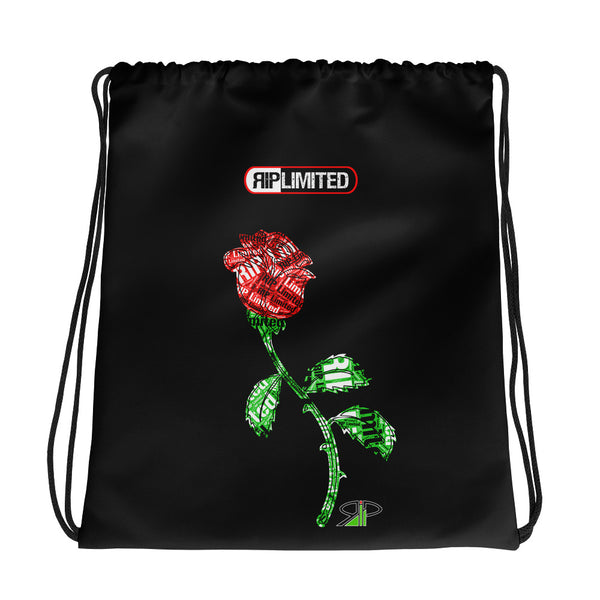 "RIP Limited ""RIP stamped ROSE"" DRAWSTRING BAG"