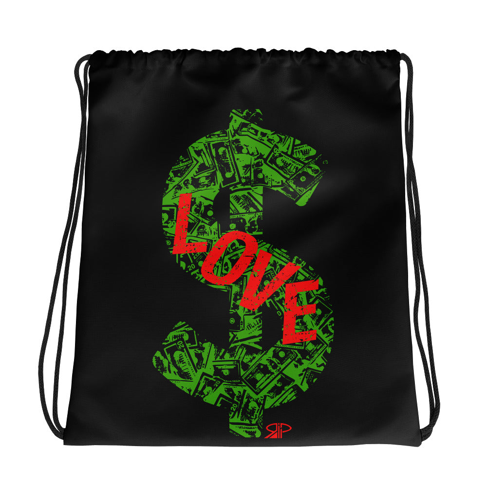 "RIP Limited ""I LOVE $"" DRAWSTRING BAG"