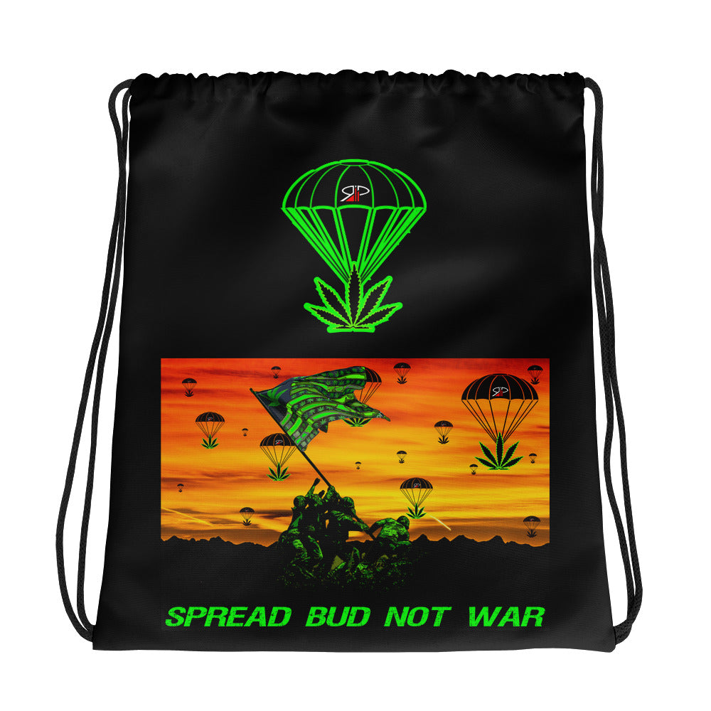 "RIP Limited ""SPREAD BUD NOT WAR"" DRAWSTRING BAG"