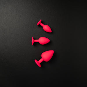 3-Piece Pink Butt Plug Set