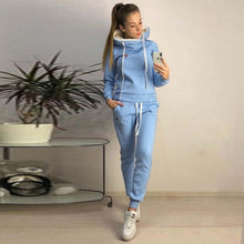 Load image into Gallery viewer, CALOFE 2019 Autumn Winter Female Two Piece Sets Tracksuit Women Long Sleeve Jackets Pants Two Piece Set Warm Outfit Women Suit