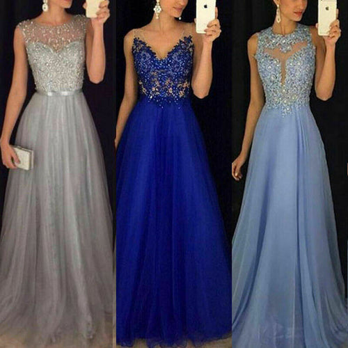 Formal Gown Dresses, Wedding Evening Party Prom Long Dress, Arrival Lace Floral Maxi Dresses
