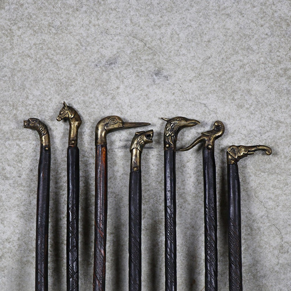 Ornate Brass & Wood Walking Canes