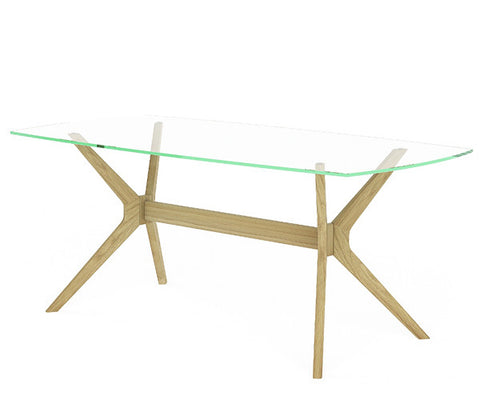 Denmark glass dining table