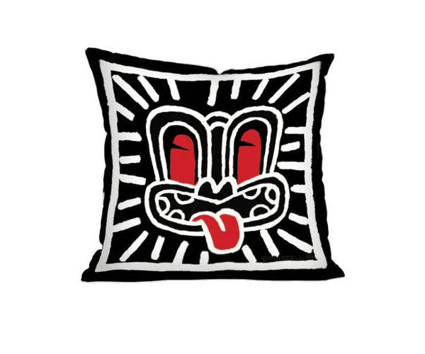 Dick Frizzell Black Haring Cushion