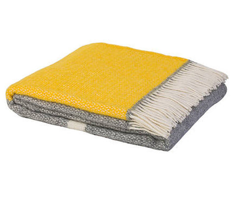 Kirkcaldy Shetland Wool Throw - yellow