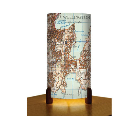 New Zealand Print Table Lamps