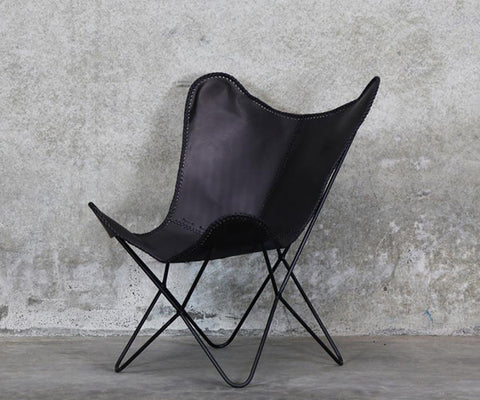 Butterfly Chair Black leather