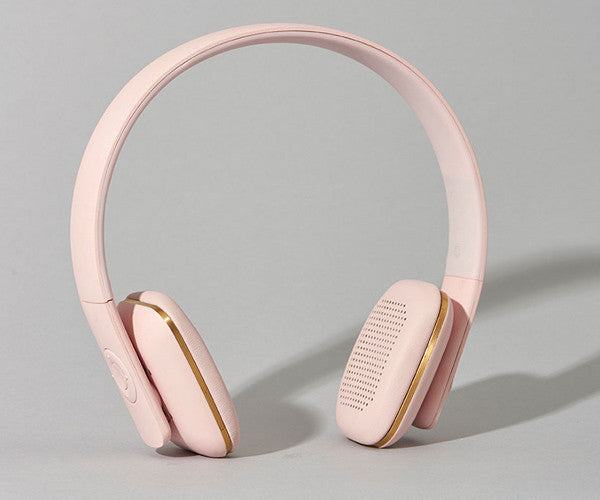 Kreafunk aHead wireless headphones - dusty pink