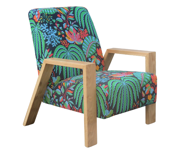 MOGAMBO chair wearing Rainforest Multi