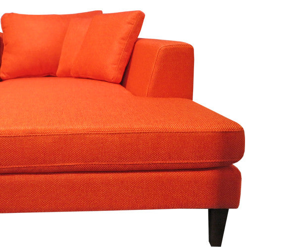 SANTA BARBARA 3 seat sofa & chaise - wearing James Dunlop Pegasus Samara Pimento