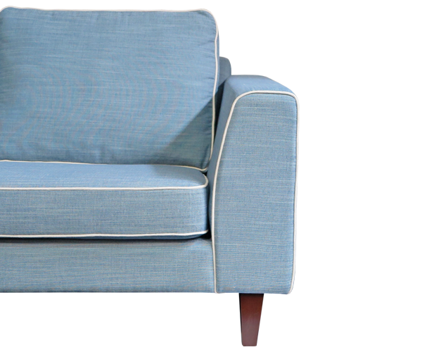 SANTA BARBARA 3.5 seat sofa - wearing Jarvis Sky Blue