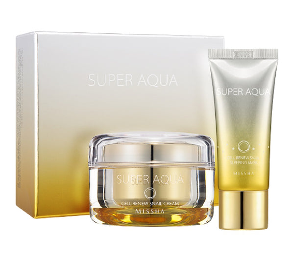 MISSHA Super Aqua Cell Renew Snail Special Set-BeautyKo