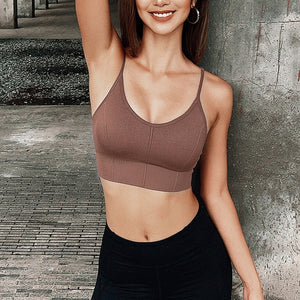 Ribbed Padded Sports Bra