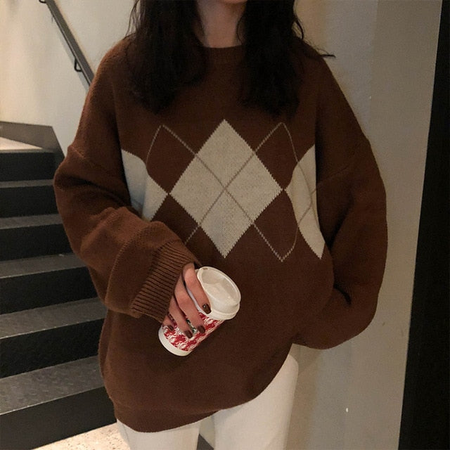 College Style Autumn Jumper