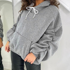 Oversized Ruched Sleeve Hoodie