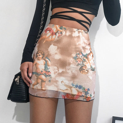 Angel Mesh Mini Skirt