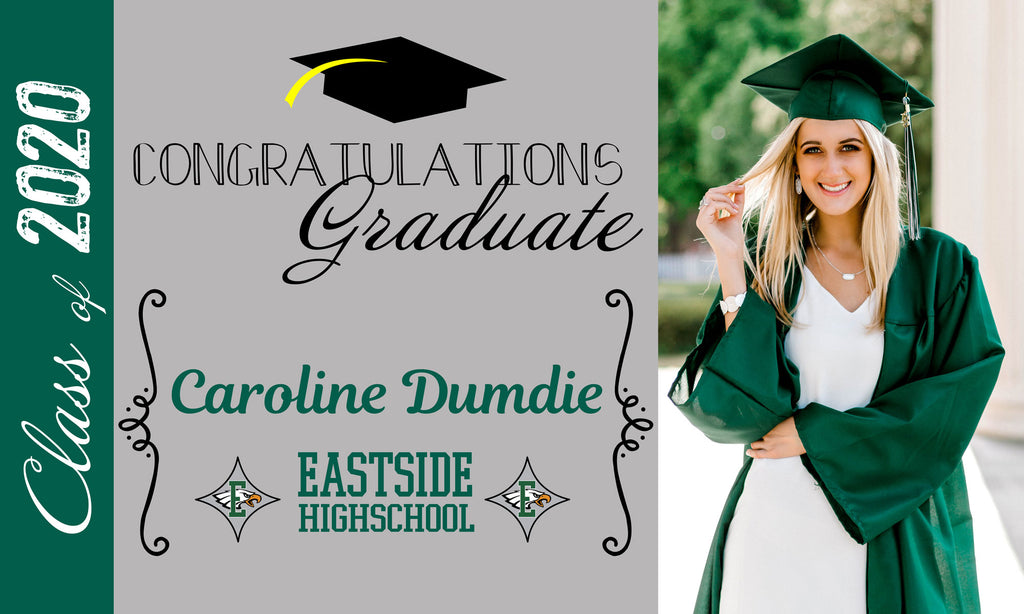 5ft x 3ft Graduation Banner - Customize to Any School