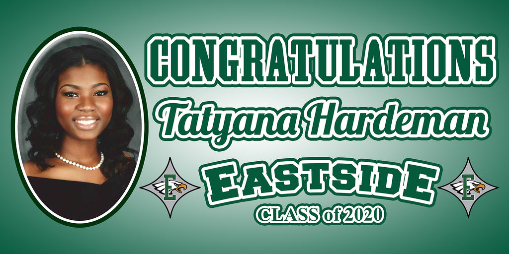 4ft x 2ft Graduation Banner - Customize to Any School