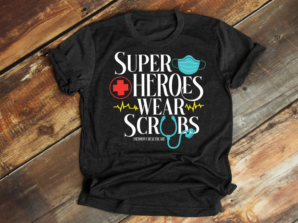 Superheroes Wear Scrubs, Nurse Appreciation Gift, Super Heroes in Scrubs Shirt, Superhero in Scrubs, This Superhero Wears Scrubs