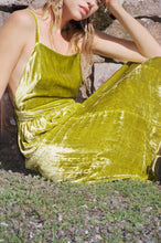 Load image into Gallery viewer, ROMY DRESS | CHARTREUSE VELVET