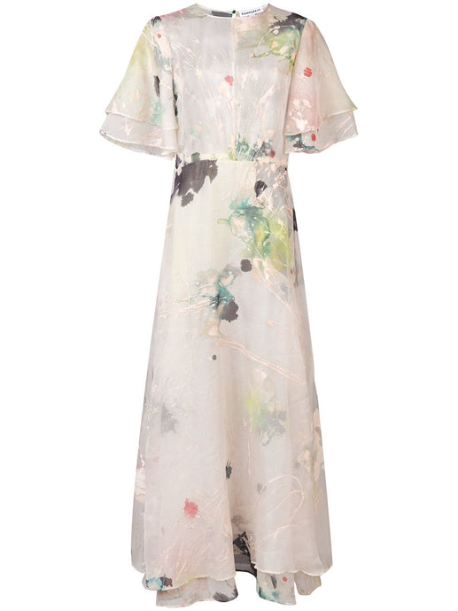 LEONORA SILK ORGANZA DRESS | HAND PAINTED TO ORDER