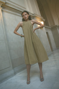 KAMPERETT ARLETTE COTTON DRESS | CAMEL