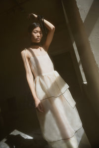 LAURENCE TIERED SILK ORGANZA MIDI DRESS (PRE ORDER)