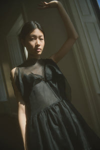 KAMPERETT Frankie Silk Organza Dress | Black