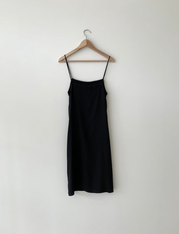 KAMPERETT | SHORT SILK SLIP | BLACK